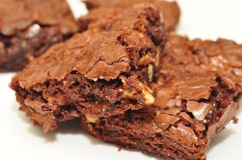 These are not my brownies, but they sure look good! Mine are in the oven!